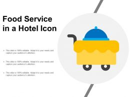 Food Service In A Hotel Icon