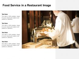 Food Service In A Restaurant Image