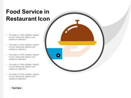 Food Service In Restaurant Icon