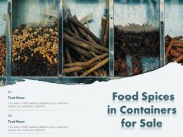 Food Spices In Containers For Sale