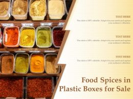 Food Spices In Plastic Boxes For Sale