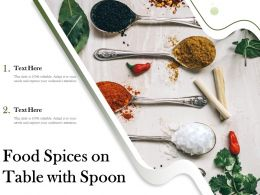 Food Spices On Table With Spoon
