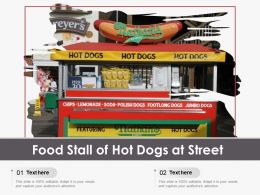 Food Stall Of Hot Dogs At Street