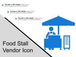 Food Stall Vendor Icon