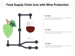 Food Supply Chain Icon With Wine Production