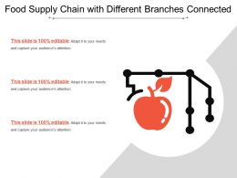 Food Supply Chain With Different Branches Connected