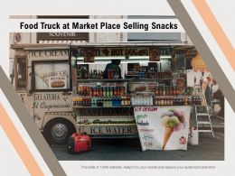 Food Truck At Market Place Selling Snacks