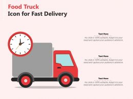 Food Truck Icon For Fast Delivery