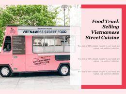 Food Truck Selling Vietnamese Street Cuisine