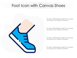 Foot Icon With Canvas Shoes