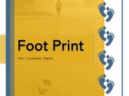 Foot Print Identification Magnifying Glass Illustrating Representing Individual
