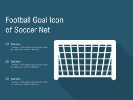 Football Goal Icon Of Soccer Net
