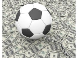 Football Graphic On Dollar Background Stock Photo