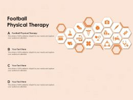 Football Physical Therapy Ppt Powerpoint Presentation Professional Guide
