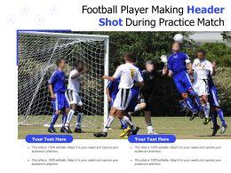 Football Player Making Header Shot During Practice Match