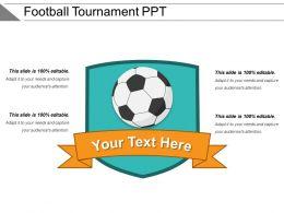 Football Tournament Ppt