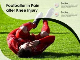 Footballer In Pain After Knee Injury