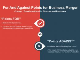 For And Against Points For Business Merger