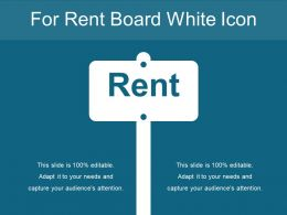 For Rent Board White Icon
