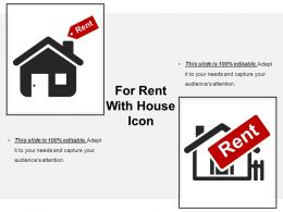 For Rent With House Icon