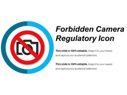 Forbidden Camera Regulatory Icon Sample Of Ppt