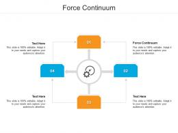Force Continuum Ppt Powerpoint Presentation Inspiration Shapes Cpb
