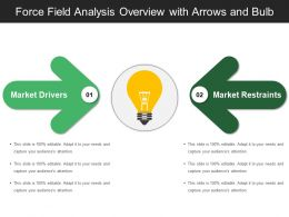 Force Field Analysis Overview With Arrows And Bulb