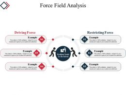 Force Field Analysis Powerpoint Slide Clipart