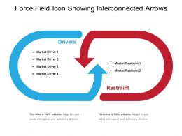 Force Field Icon Showing Interconnected Arrows