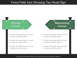 Force Field Icon Showing Two Road Sign2