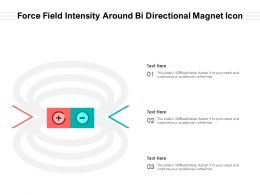 Force Field Intensity Around Bi Directional Magnet Icon
