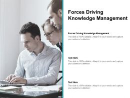 Forces Driving Knowledge Management Ppt Powerpoint Presentation Show Deck Cpb