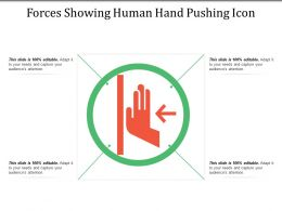 Forces Showing Human Hand Pushing Icon