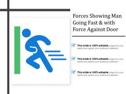 Forces Showing Man Going Fast And With Force Against Door