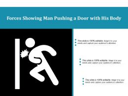 Forces Showing Man Pushing A Door With His Body