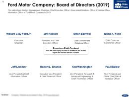 Ford Motor Company Board Of Directors 2019