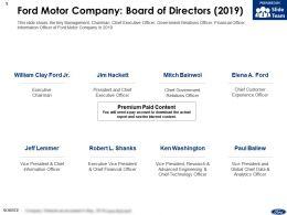 Ford Motor Company Board Of Directors 2019