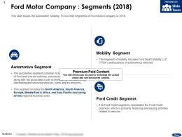 Ford Motor Company Segments 2018