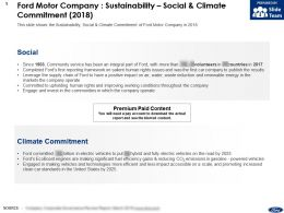Ford Motor Company Sustainability Social And Climate Commitment 2018