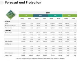 Forecast And Projection Expenses Revenue Ppt Powerpoint Presentation Ideas Slideshow