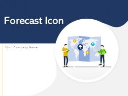 Forecast Icon Business Meteorology Smartphone Revenue Strategy