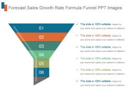 Forecast Sales Growth Rate Formula Funnel Ppt Images