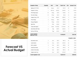 Forecast Vs Actual Budget Agenda Ppt Powerpoint Presentation Icon Smartart