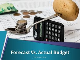 Forecast Vs Actual Budget Powerpoint Presentation Slides