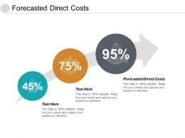 Forecasted Direct Costs Ppt Powerpoint Presentation Slides Objects Cpb