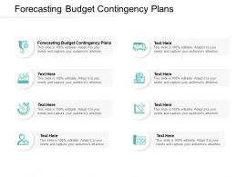 Forecasting Budget Contingency Plans Ppt Powerpoint Presentation Pictures Format Ideas Cpb
