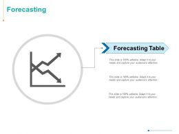 Forecasting Business Ppt Powerpoint Presentation Topics