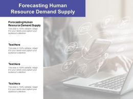 Forecasting Human Resource Demand Supply Ppt Powerpoint Template Cpb