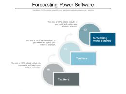 Forecasting Power Software Ppt Powerpoint Presentation Background Cpb