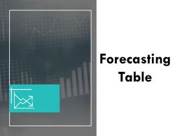 Forecasting Table Ppt Powerpoint Presentation Summary Background